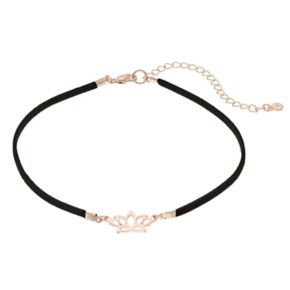 LC Lauren Conrad Lotus Choker Necklace