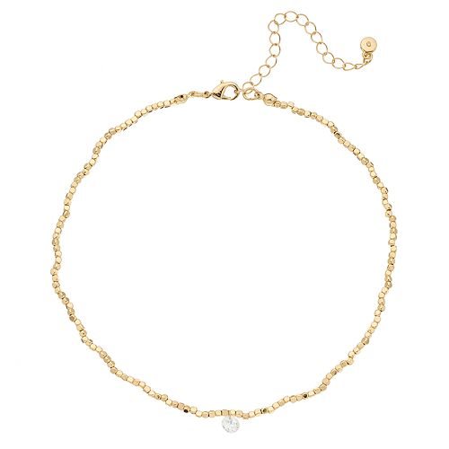 LC Lauren Conrad Floating Simulated Crystal Choker Necklace