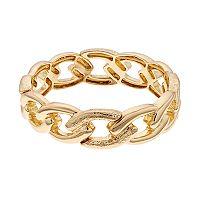 Napier Textured Link Stretch Bracelet