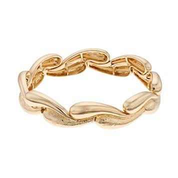 Napier Textured Wavy Stretch Bracelet