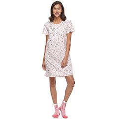 Women's Croft & Barrow® Pajamas: Sleepshirt & Socks Set