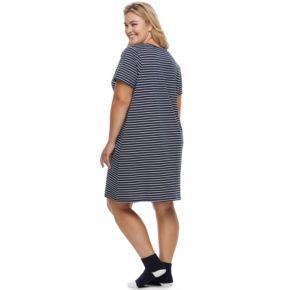 Plus Size Croft & Barrow® Pajamas: Knit Sleepshirt & Socks Set