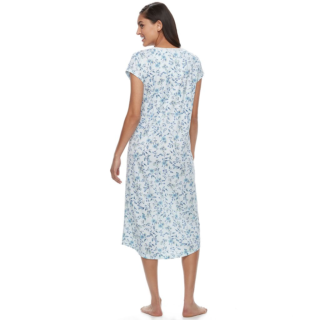 Women's Croft & Barrow® Pajamas: Lace V-Neck Nightgown