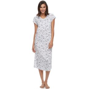 Women's Croft & Barrow® Pajamas: Lace V-Neck Nightgown