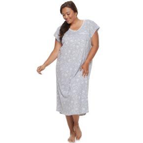 Plus Size Croft & Barrow® Pajamas: Lace V-Neck Nightgown