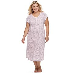 Plus Size Croft & Barrow® Pajamas: Lace V-Neck Nightgown
