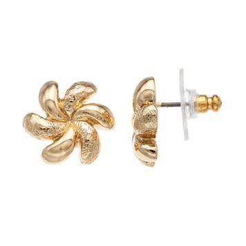 Napier Spiral Flower Stud Earrings
