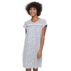 Women's Croft & Barrow® Lace Trimmed Sleep Gown
