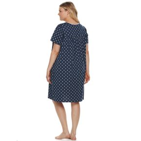 Plus Size Croft & Barrow® Lace Trimmed Sleep Gown