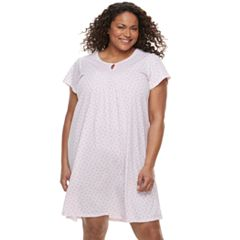 Plus Size Croft & Barrow® Keyhole Nightgown