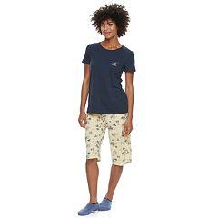 Women's Croft & Barrow® Short Sleeve Novelty Pajama Set