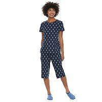 Women's Petite Croft & Barrow® Short Sleeve Novelty Pajama Set
