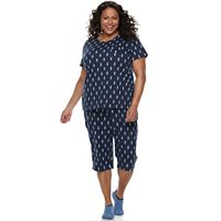 Plus Size Croft & Barrow® Short Sleeve Novelty Pajama Set