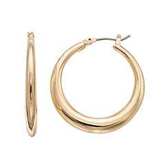 Napier Graduated Hoop Earrings