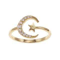 LC Lauren Conrad Moon & Star Openwork Ring