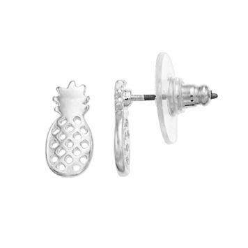 LC Lauren Conrad Pineapple Nickel Free Stud Earring