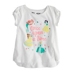 Disney Princess Ariel, Snow White, Belle & Cinderella 'Once Upon A Time' Softest Graphic Tee by Jumping Beans®