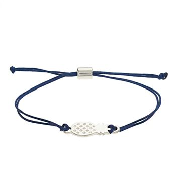 LC Lauren Conrad Pineapple Blue Cord Bracelet