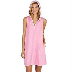 Women's Stan Herman Short Hooded Robe