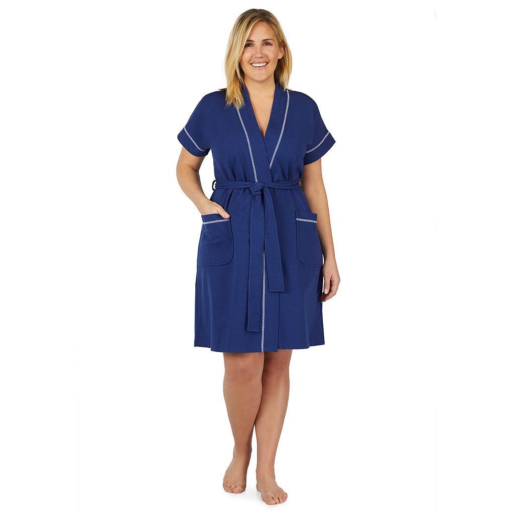 Plus Size Stan Herman Dolman Wrap Robe