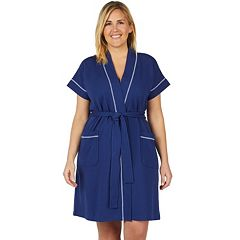 Plus Size Stan Herman Dolman Wrap Robe
