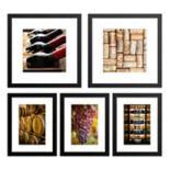 Wine Framed Wall Art 5-piece Set