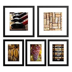 Wine Framed Wall Art 5-piece Set