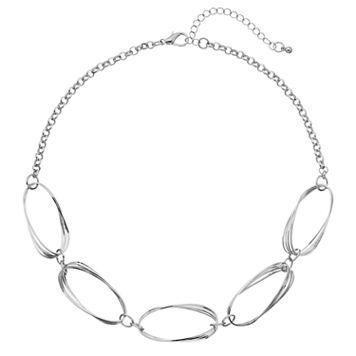 Multi Oval Link Necklace