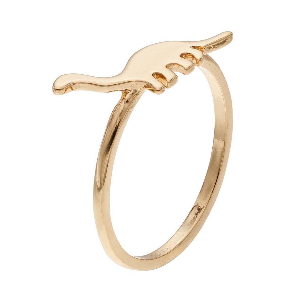 LC Lauren Conrad Dinosaur Silhouette Ring