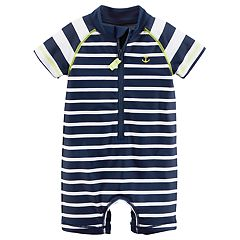 Baby Boy Carter's Striped Anchor One Piece Rashguard
