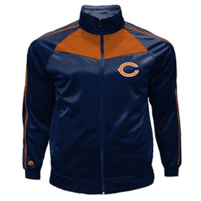 Big & Tall Majestic Chicago Bears Tricot Track Jacket