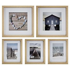 Coastal Framed Wall Art 5-piece Set