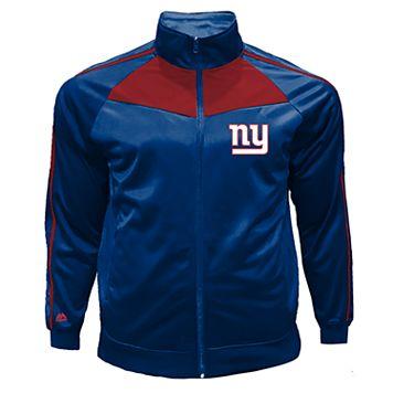 Big & Tall Majestic New York Giants Tricot Track Jacket