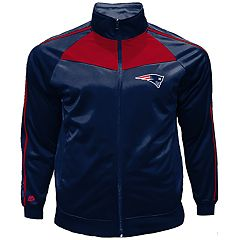 Big & Tall Majestic New England Patriots Tricot Track Jacket