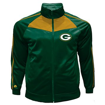 Big & Tall Majestic Green Bay Packers Tricot Track Jacket