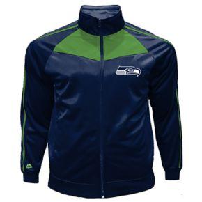 Big & Tall Majestic Seattle Seahawks Tricot Track Jacket