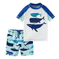 Baby Boy Carter's Whales Rash Guard & Swim Trunks Set