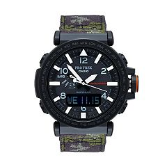 Casio Men's PRO TREK Triple Sensor Analog-Digital Tough Solar Watch & Interchangeable Band Set - PRG650YBE-3