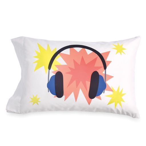 Scribble Headphone Pillowcase