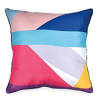 Scribble Colorblock Throw Pillow