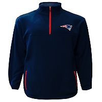 Big & Tall Majestic New England Patriots Fleece Pullover