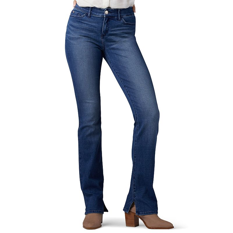 Women's Lee Total Freedom Bootcut Jeans, Size: 4 - regular, Dark Blue
