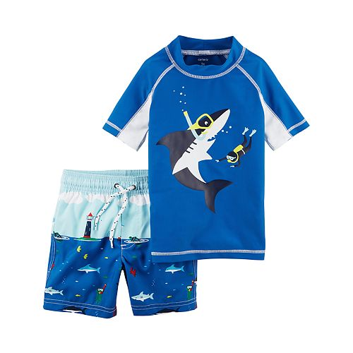 1dc007fc30fbe Toddler Boy Carter's Rashguard Top & Swim Trunks Set