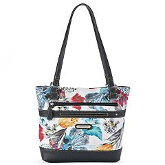Stone & Co. Floral Print Leather Tote