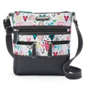 Stone & Co. Heart Print Leather Crossbody Bag