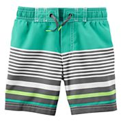 Toddler Boy Carter's Striped Swim Trunks