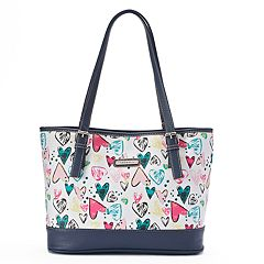 Stone & Co. Heart Print Leather Tote