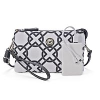Stone & Co. Plugged In Phone Charging Printed Leather Crossbody Bag