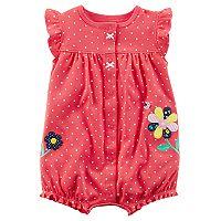 Baby Girl Carter's Polka-Dot Flower Romper