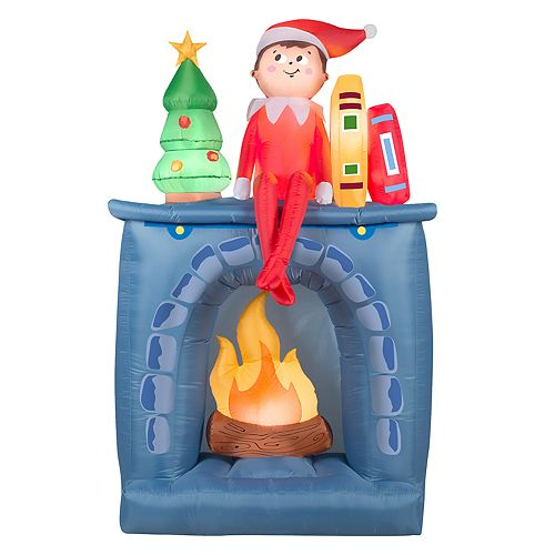 inflatable elf indoor outdoor christmas decor - Elf Outdoor Christmas Decorations